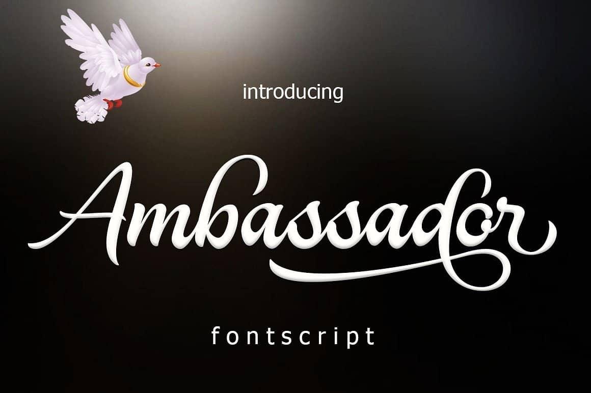 Download Ambassador font (typeface)