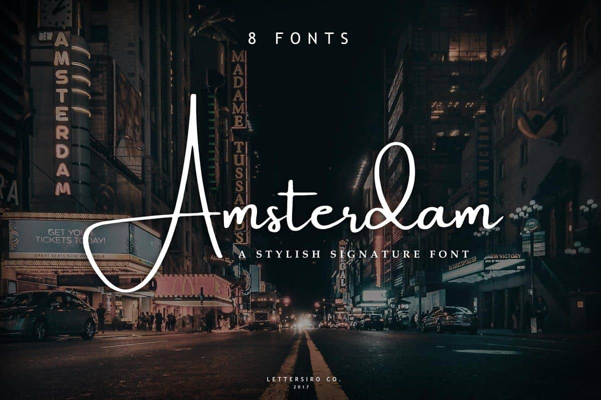 Download Amsterday font (typeface)