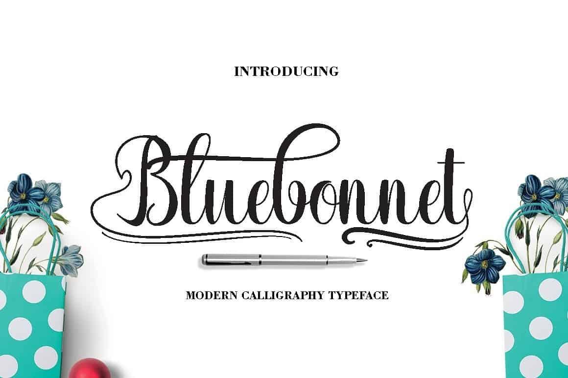Download Bluebonnet font (typeface)