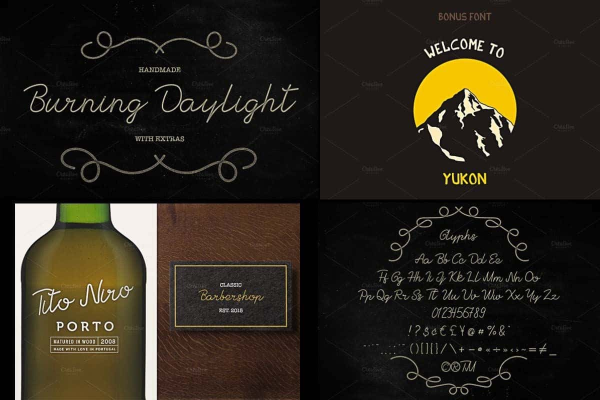 Download Burning Daylight font (typeface)