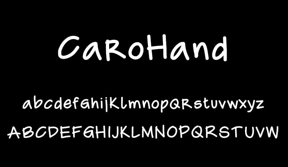 Download CaroHand font (typeface)