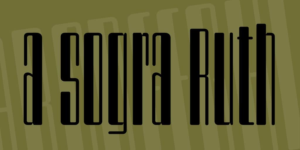 Download A Sogra Ruth font (typeface)