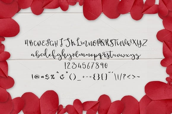 Download Dear Hearts font (typeface)