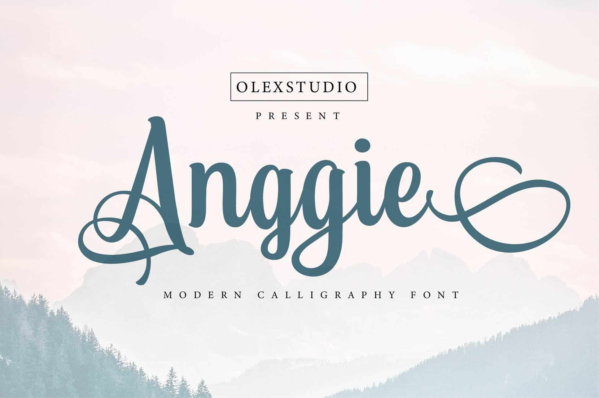 Download Anggie font (typeface)