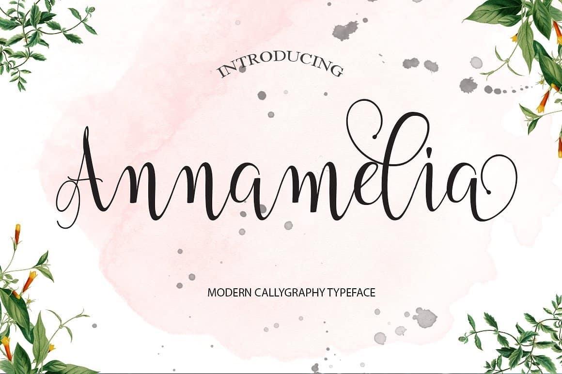 Download Annamelia font (typeface)