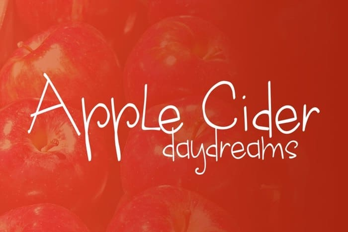 Download Apple Cider Daydreams font (typeface)