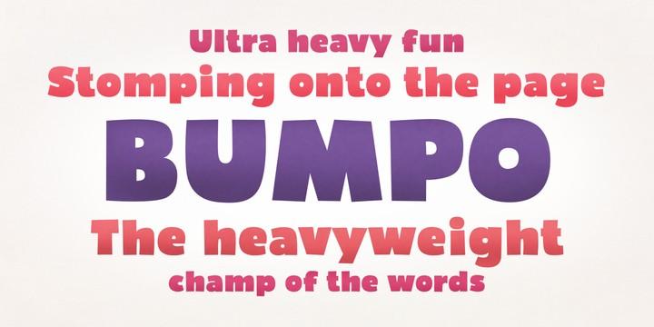 Download Bumpo font (typeface)