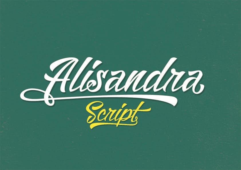 Download Alisandra font (typeface)