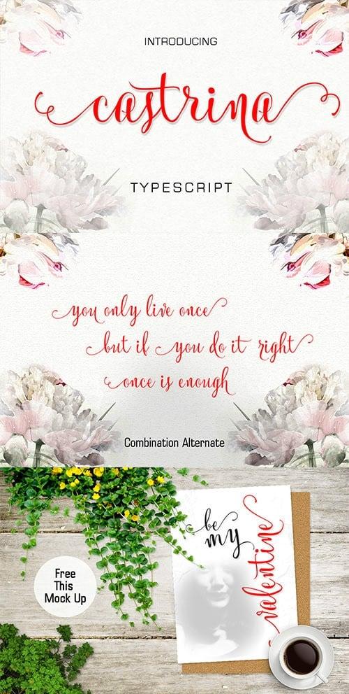 Download Castrina Typescript font (typeface)