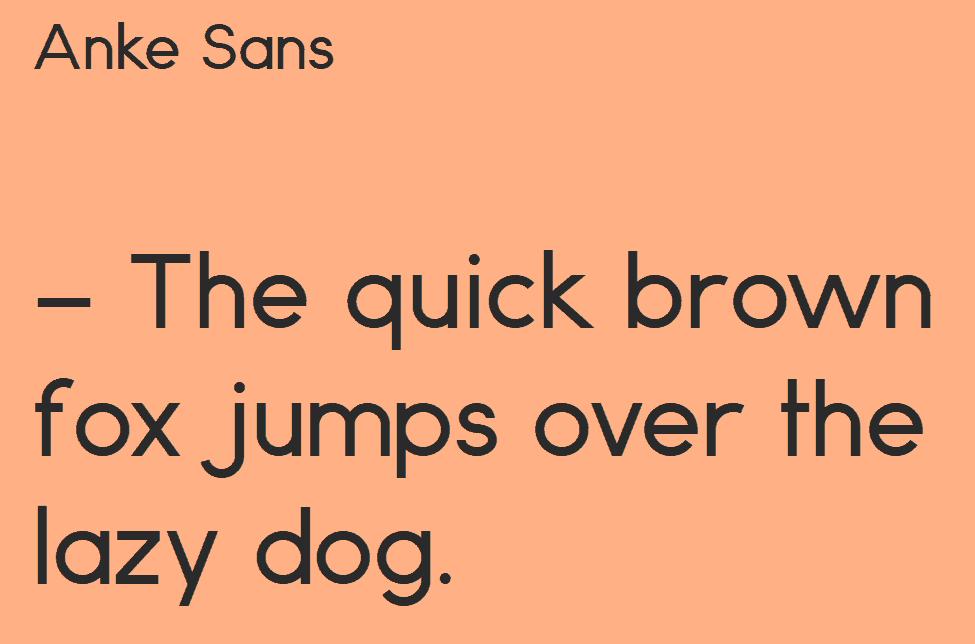 Download Anke Sans font (typeface)