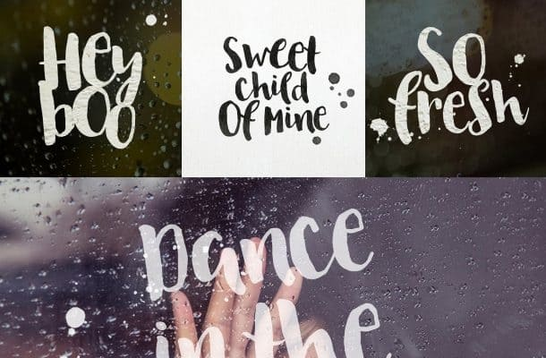 Download August Rain font (typeface)