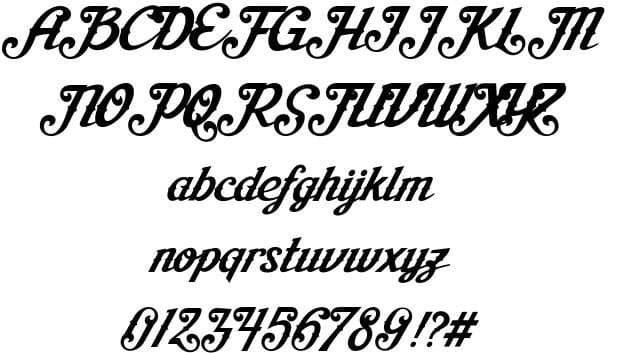 Download Aisha Script font (typeface)