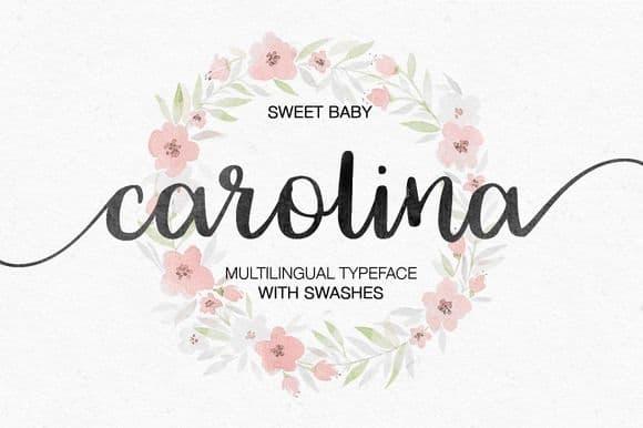 Download Carolina font (typeface)