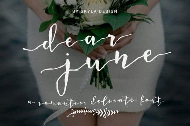 Download Dear June font (typeface)