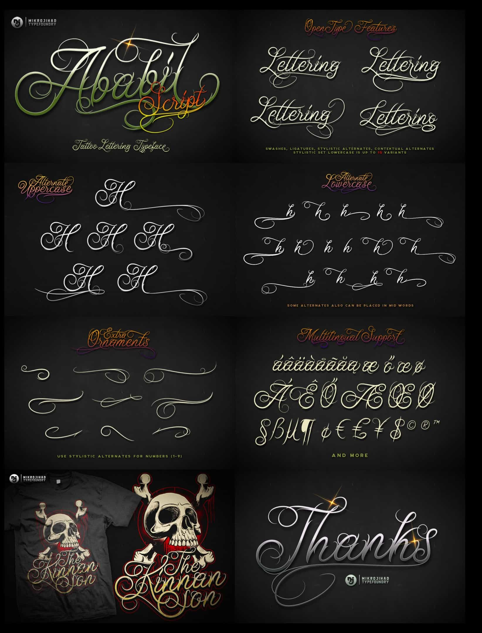 Download Ababil Script Full font (typeface)