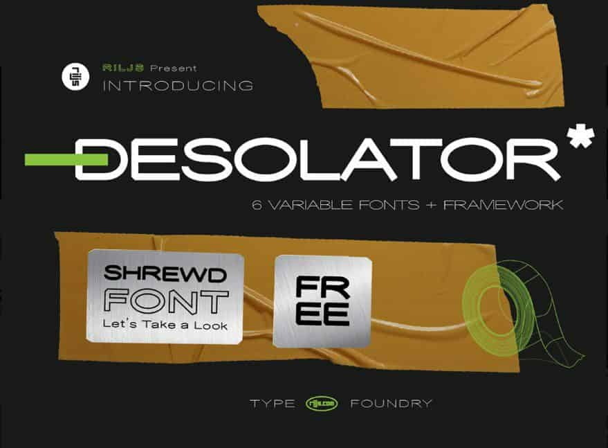 Download Desolator font (typeface)