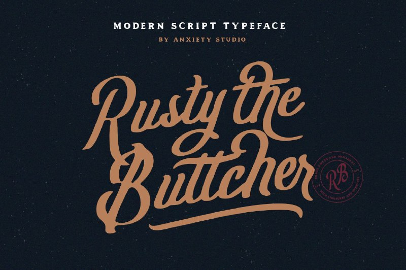 Download Rusty The Buttcher font (typeface)