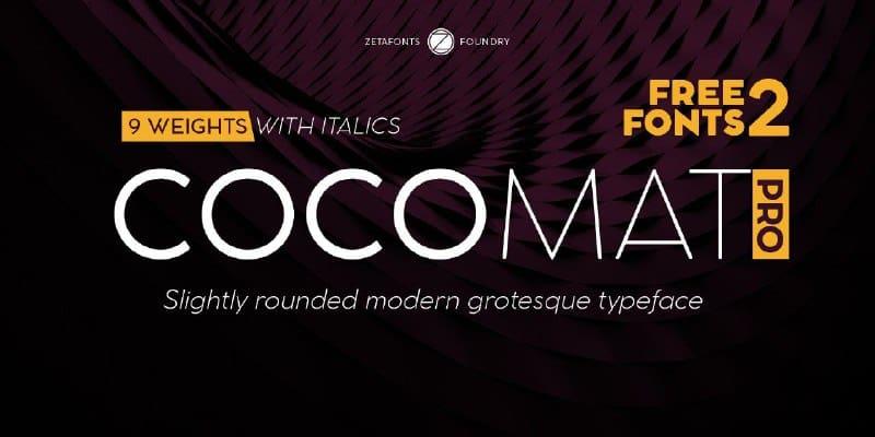 Download Cocomat Pro font (typeface)