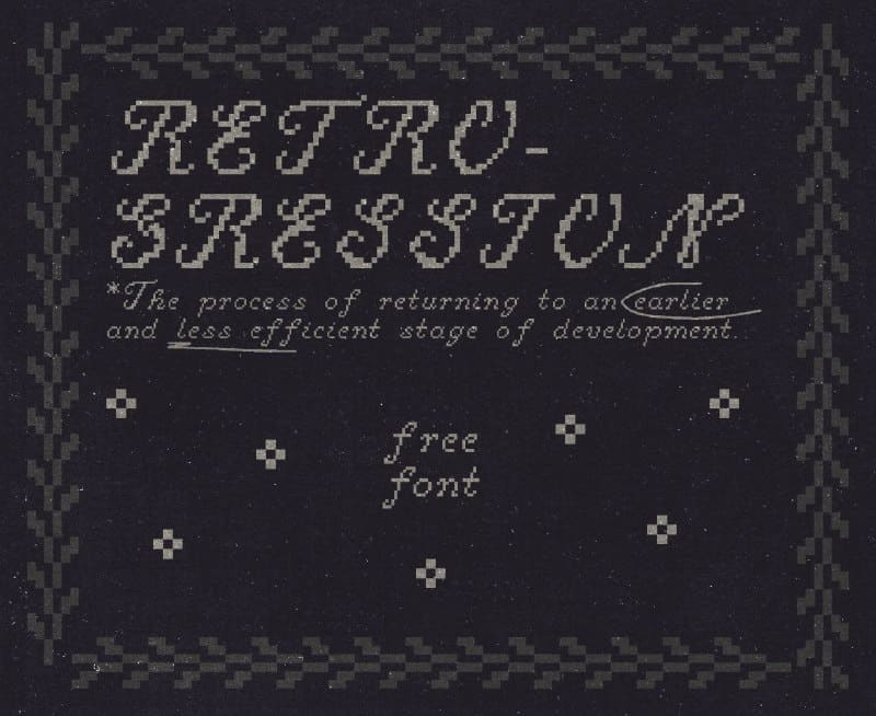 Download Retrogression font (typeface)