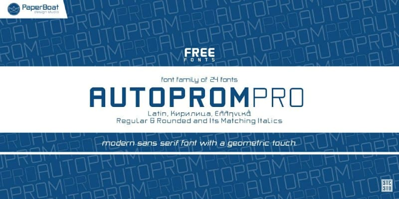 Download Autoprom Pro font (typeface)