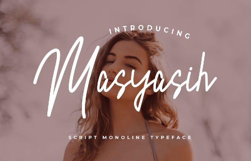 Download Masyasih font (typeface)