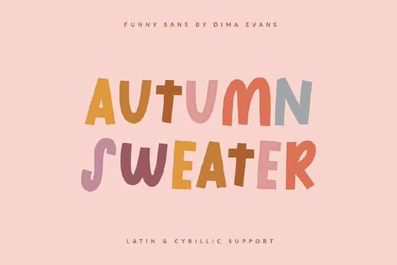 Download Autumn Sweater font (typeface)
