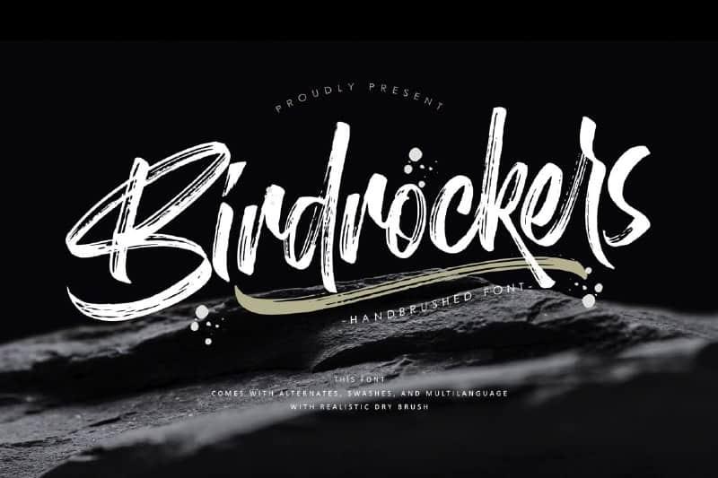 Download Birdrockers font (typeface)