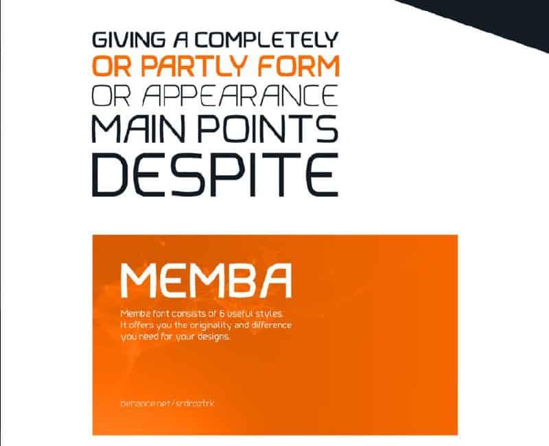 Download Memba font (typeface)