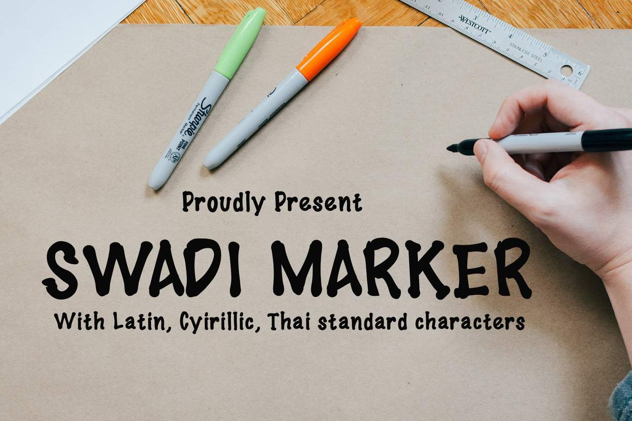 Download Swadi marker font (typeface)