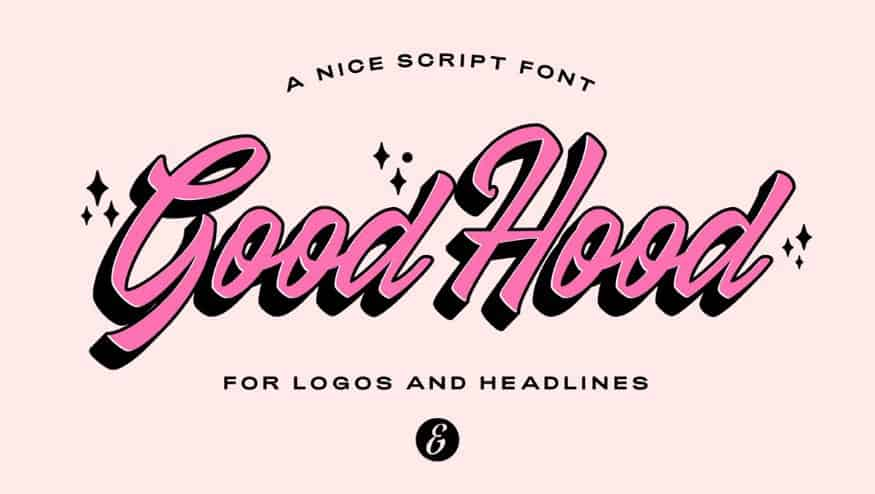 Download Good Hood font (typeface)