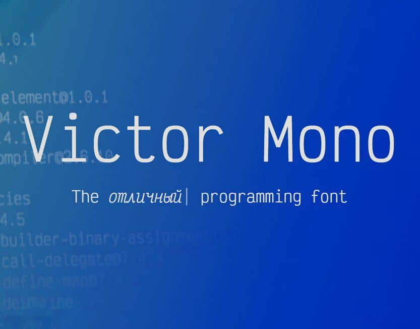 Download Victor Mono font (typeface)