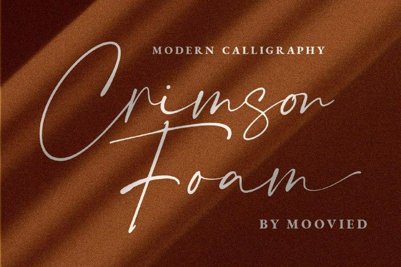 Download Crimson Foam font (typeface)