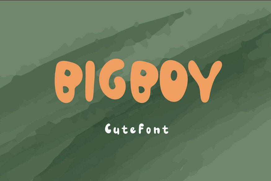 Download Big Boy Cute font (typeface)