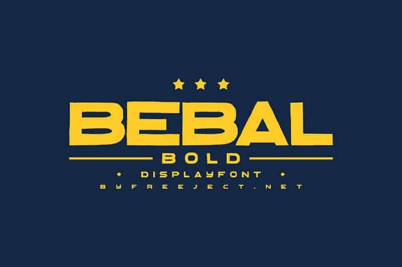 Download Bebal font (typeface)