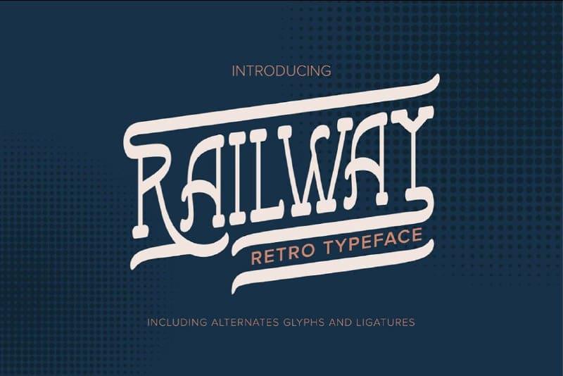 Download Railway Retro font (typeface)