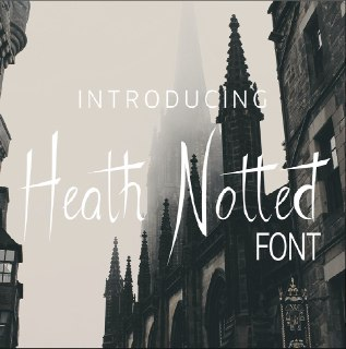 Download Heath Notted font (typeface)