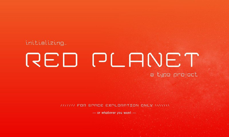 Download Red Planet font (typeface)