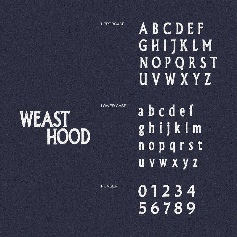Download Weast Hood font (typeface)