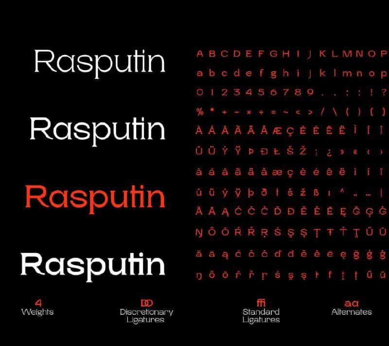 Download Rasputin font (typeface)