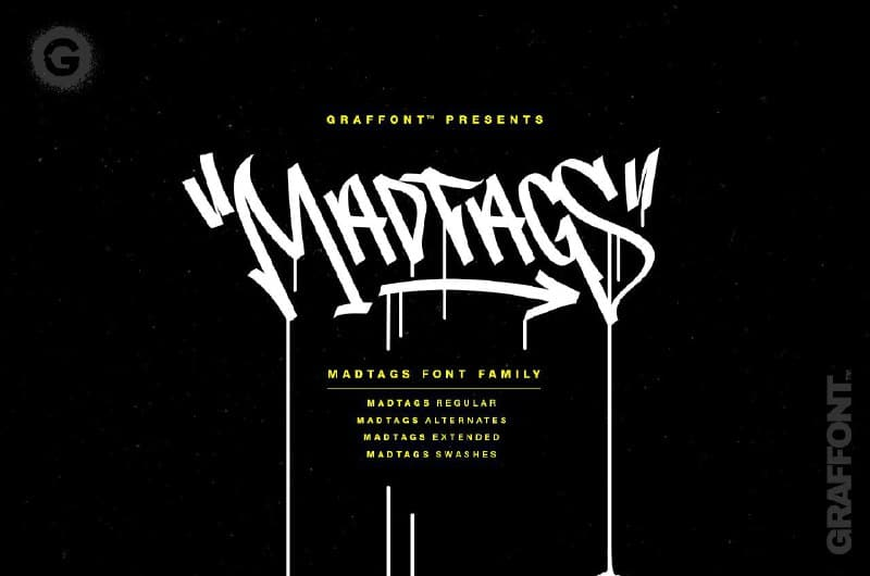 Download Madtags font (typeface)
