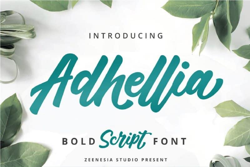 Download Adhellia font (typeface)