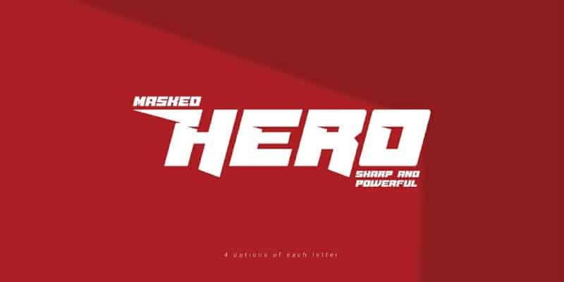 Download Masked Hero font (typeface)