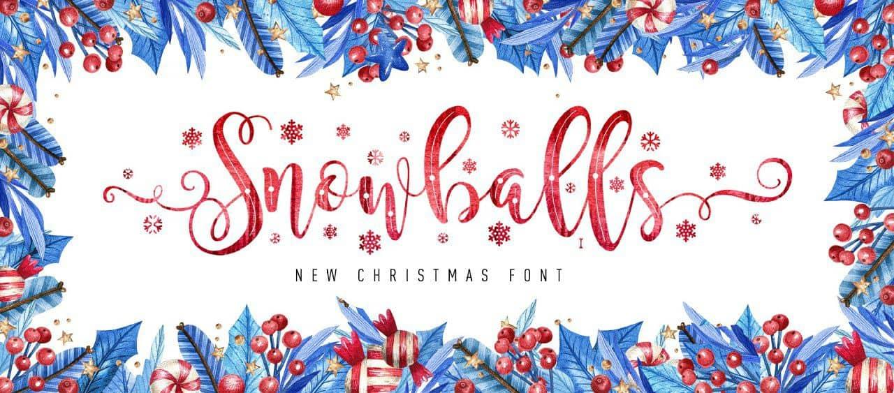 Download Snowballs font (typeface)