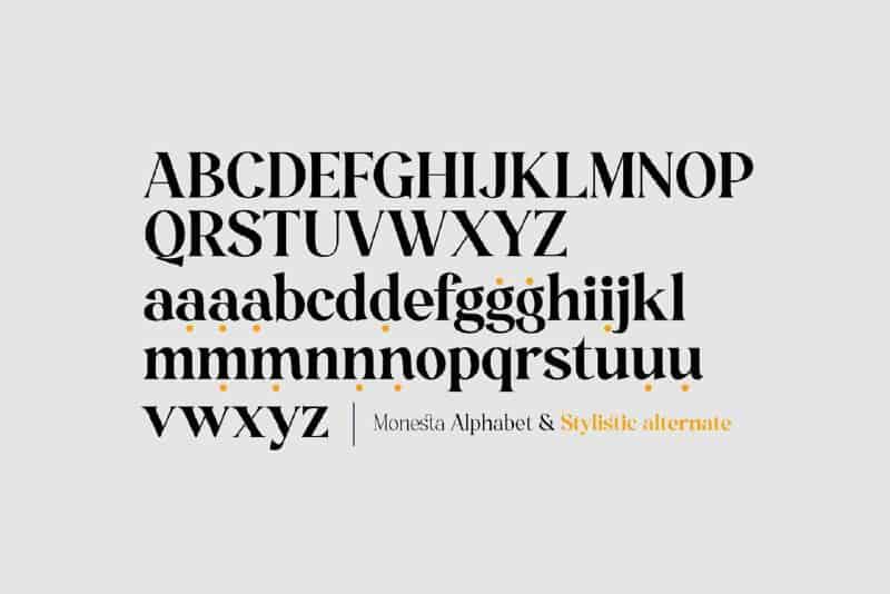 Download Monesta font (typeface)