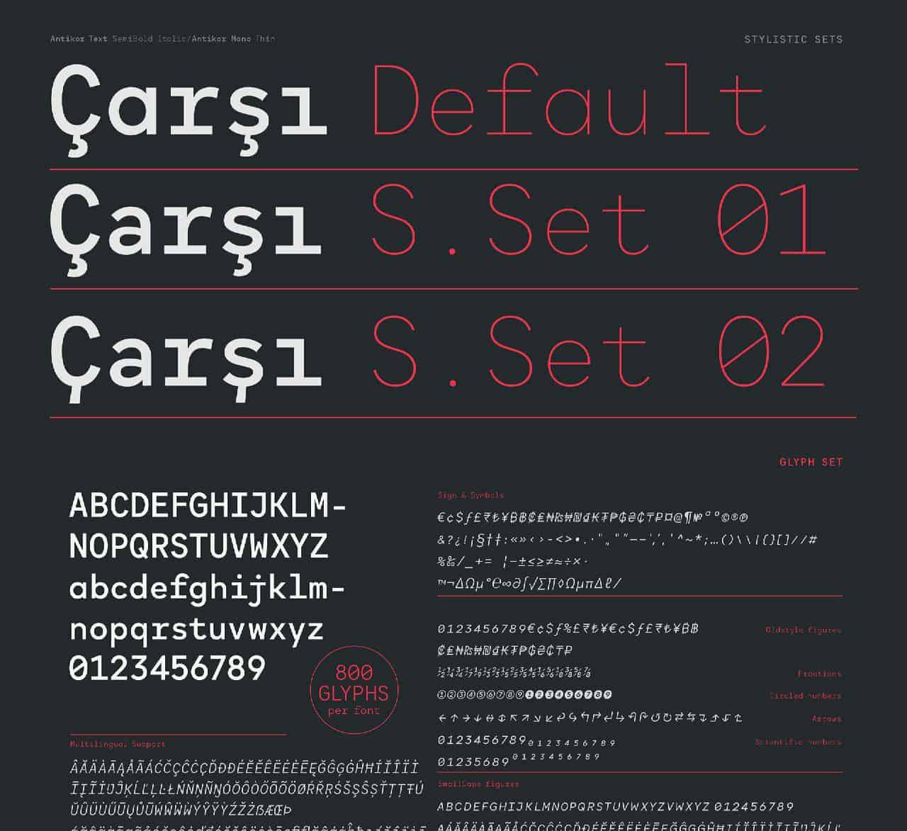Download Antikor font (typeface)