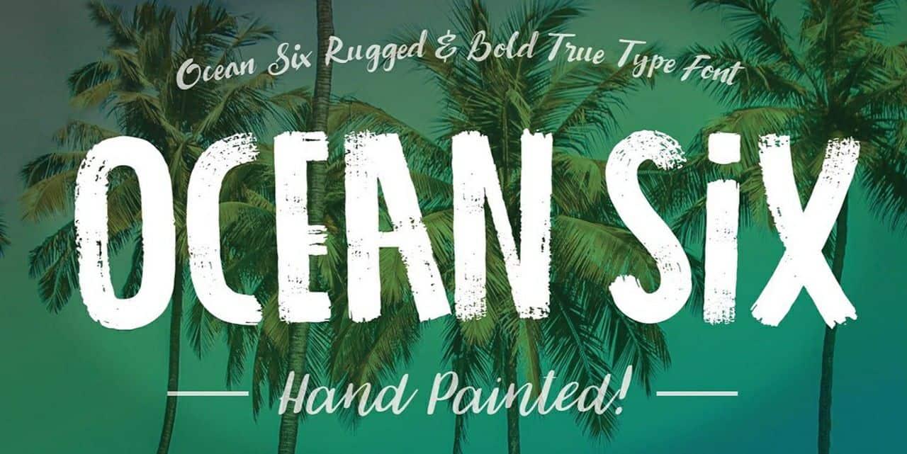 Download Ocean Six font (typeface)