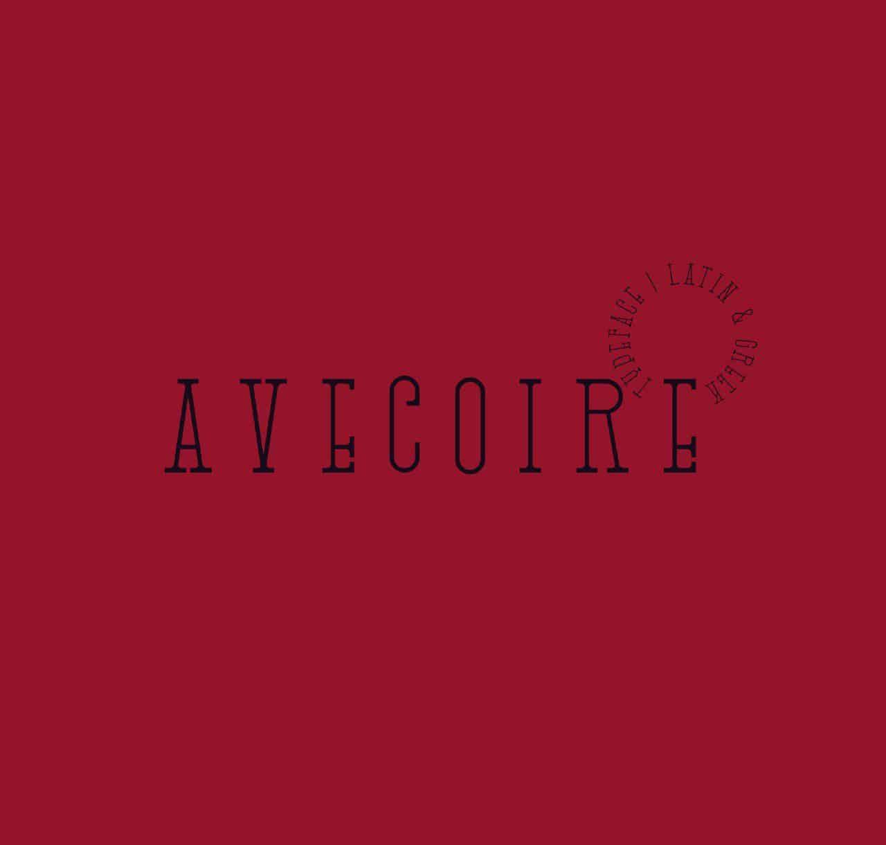 Download Avecoire font (typeface)