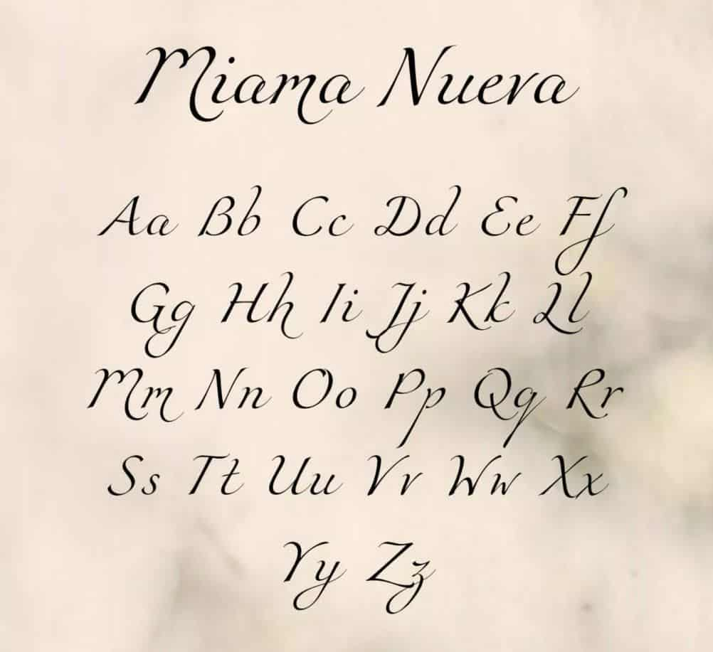 Download Miama Nueva font (typeface)