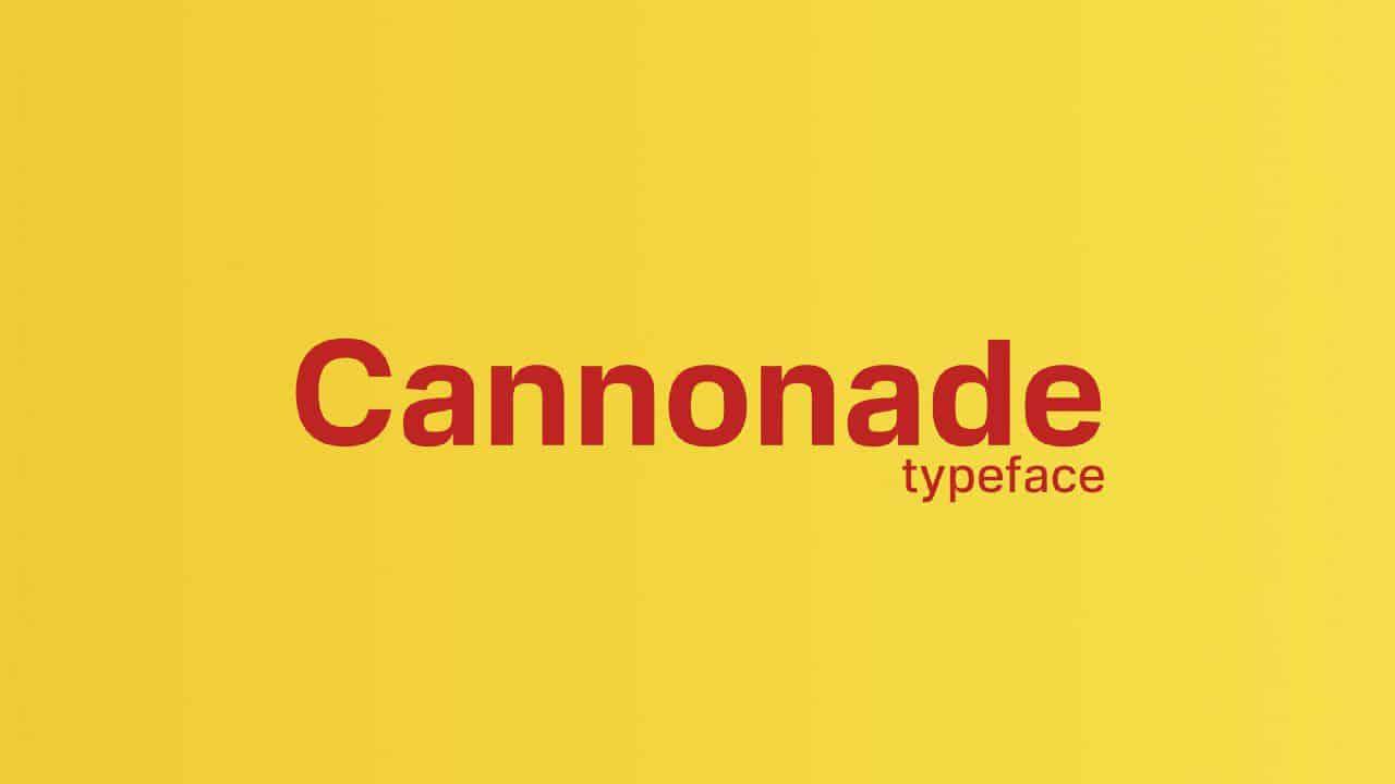 Download Cannonade font (typeface)
