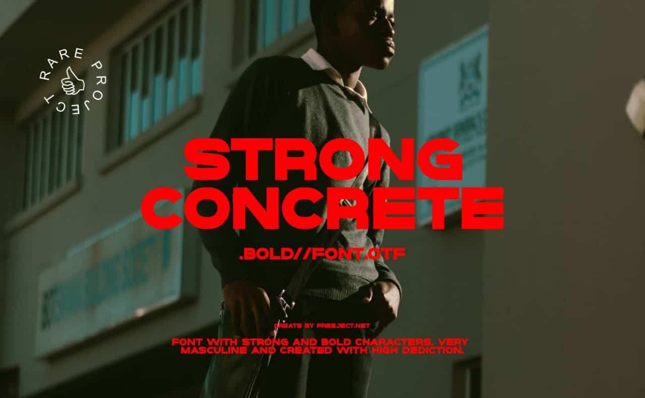 Download Strong concrete font (typeface)